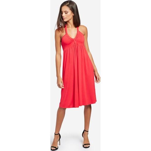 745b9aad71 Sukienka Khujo jerseyowa midi bez wzorów w Domodi