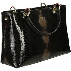 8ba83f762920c Venezia shopper bag bez dodatków czarna skórzana na ramię