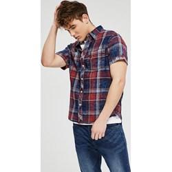 57db884a4996 Koszula męska Diverse z krótkim rękawem casualowa w kratkę