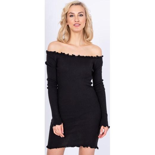 2e4736c161 Sukienka Zoio dopasowana czarna z długim rękawem midi casual w Domodi