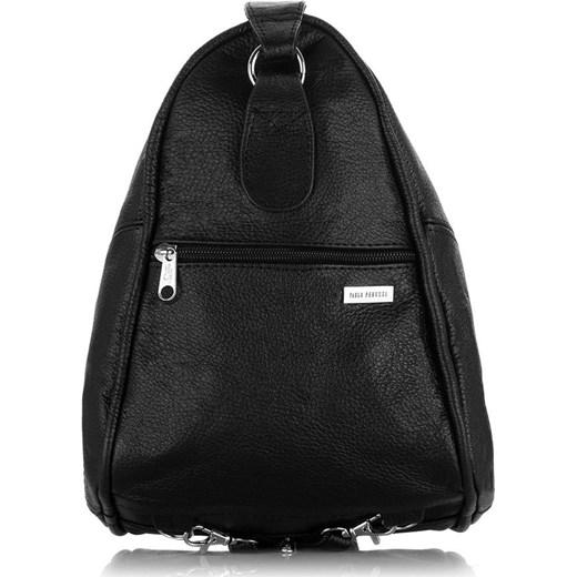 e266fb1007fb5 Skórzany plecak damski i torebka w jednym czarny szary Abruzzo Evangarda.pl