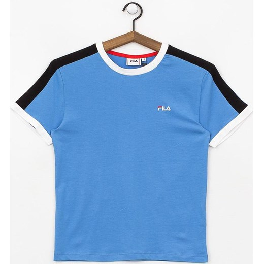 Bluzka sportowa niebieska Fila z haftem na wiosnę