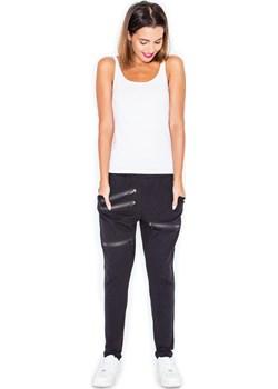 Czarne Spodnie Dresowe Joggersy z Suwakami  Katrus Coco-fashion.pl  - kod rabatowy