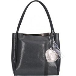 f3ab6a2e0d3e9 Shopper bag Chiara Design z breloczkiem na ramię matowa elegancka