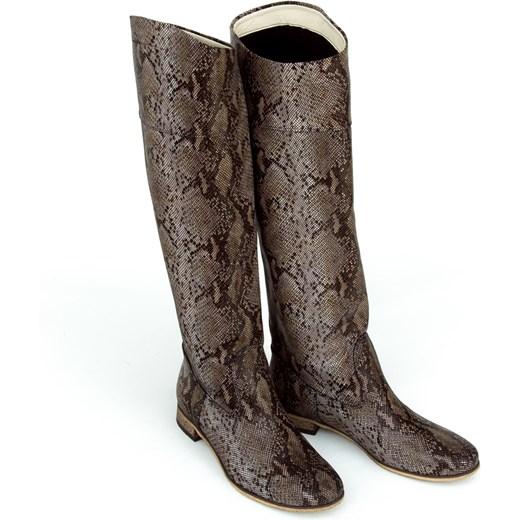 16992063123a ... Kozaki damskie Zapato zimowe skórzane