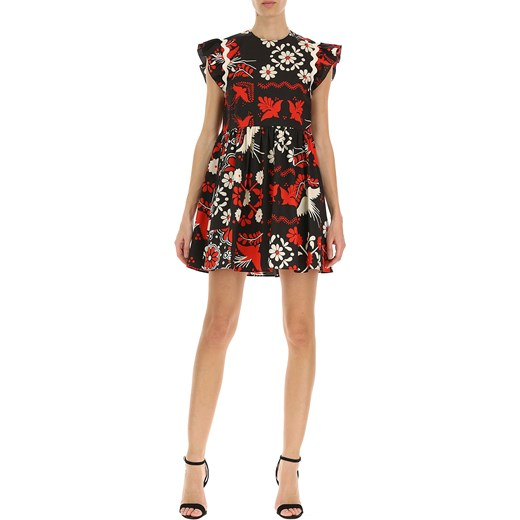 ed119b3d3b Sukienka Red Valentino na sylwestra  Sukienka wielokolorowa Red Valentino  na bal w kwiaty na sylwestra ...