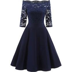 9255330f27 Sukienka Elegrina midi z poliestru na studniówkę