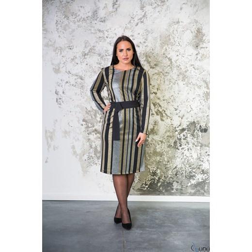 1c0136fa21 Sukienka z długimi rękawami do pracy w Domodi
