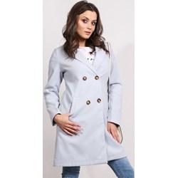 5eee0a231f5a Płaszcz damski biały Dstreet z poliestru