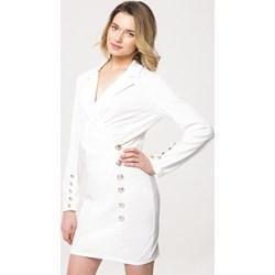 9adfd5bbb9 Born2be sukienka biała gładka mini