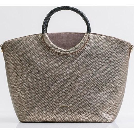 6e44de841bc73 Shopper bag Monnari brązowa elegancka w Domodi