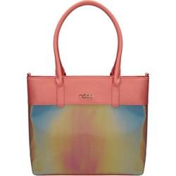 4199e3257b5c8 Shopper bag Nobo matowa wielokolorowa mieszcząca a6 bez dodatków