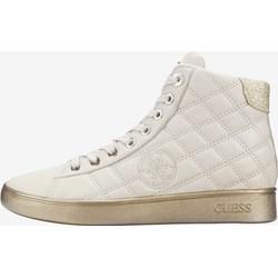 0dbea2fd61db1 Sneakersy damskie Guess bez wzorów skórzane sznurowane