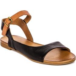 7795a529 Sandały damskie Venezia z klamrą bez obcasa bez wzorów casual płaskie