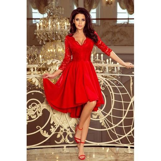 87ae9241a4 Sukienka Numoco asymetryczna z dekoltem v w Domodi