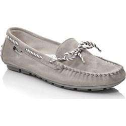 61693b57f0e9 Szare buty damskie nessi płaska podeszwa