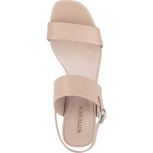 ca8c8f8f95dc8 ... Różowe sandały damskie Wittchen ze skóry ...