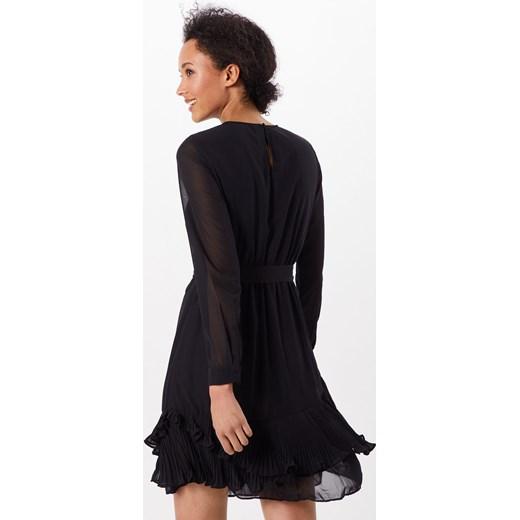 577b57350 Czarna sukienka Vero Moda z okrągłym dekoltem z długimi rękawami bez ...