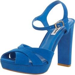 05d6fa5280673 DUNE LONDON sandały damskie na wysokim obcasie na platformie gładkie