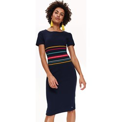 861d9a8a11 Sukienka Top Secret midi na spacer z krótkimi rękawami
