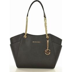 5e2e51dbcc5ed Shopper bag Michael Kors na ramię elegancka z breloczkiem duża