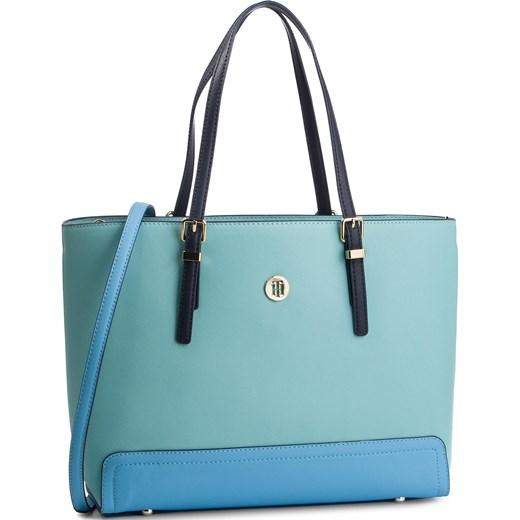 5b0c8dbc124bd Shopper bag Tommy Hilfiger na ramię duża elegancka w Domodi
