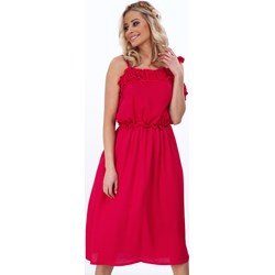 048b6a2723 Sukienka Fasardi na randkę z tkaniny luźna elegancka