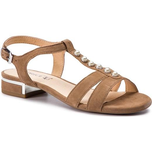 Sandały damskie Caprice brązowe z zamszu Buty Damskie ZD brązowy Sandały damskie AXNK
