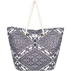 eb028da49d0b0 Roxy shopper bag z nadrukiem w stylu młodzieżowym bez dodatków