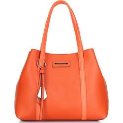 779285976bc61 Shopper bag Wittchen średnia na ramię z breloczkiem matowa ze skóry  ekologicznej