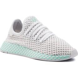 best sneakers 0a714 8f289 Adidas buty sportowe damskie płaskie sznurowane z tworzywa sztucznego
