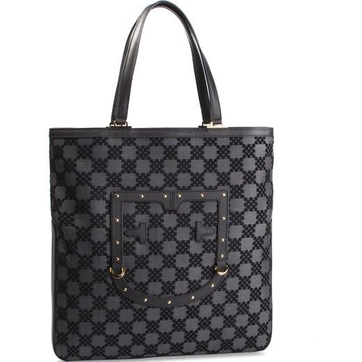 b406f6ddb197b Czarna shopper bag Furla z nadrukiem mieszcząca a8 młodzieżowa w Domodi