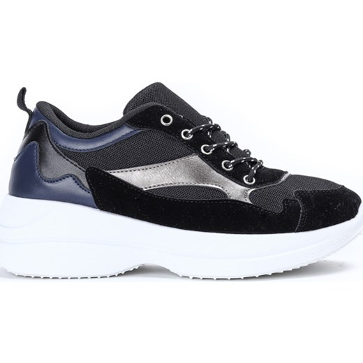 9b8fddf7 Sneakersy damskie Royalfashion.pl płaskie sznurowane w Domodi