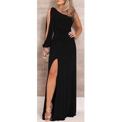 efe095c758 Sukienka czarna Elegrina dopasowana