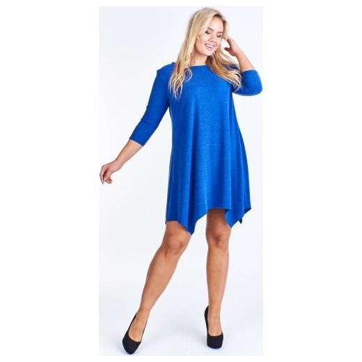 fa99b84016 Sukienka Bomo Moda z okrągłym dekoltem z długim rękawem bez wzorów w ...
