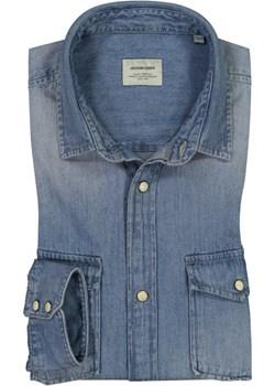 Jack & Jones, Koszula jeansowa z kieszeniami na piersiach Niebieski  Jack & Jones Hirmer - kod rabatowy
