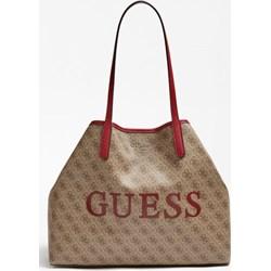 a37639b33d3ae Shopper bag Guess na ramię ze skóry ekologicznej bez dodatków