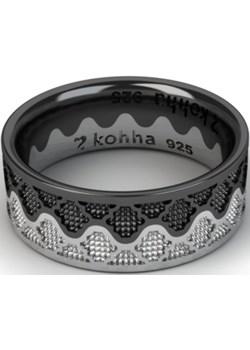 Zestaw obrączek Korona Silver and Black   Kohha - kod rabatowy