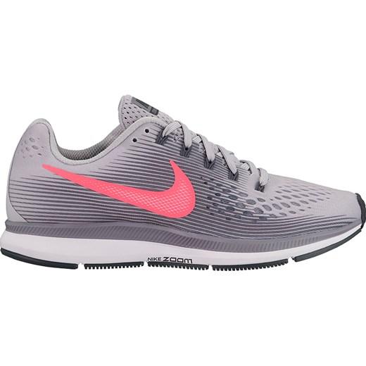 Buty sportowe damskie szare Nike do biegania płaskie gładkie