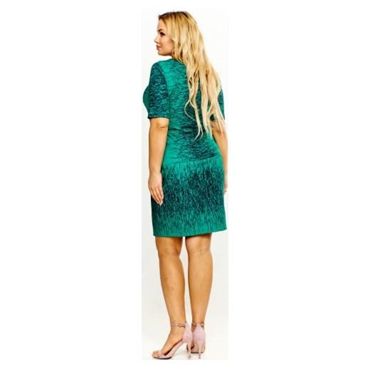 f07d999844 ... Wzorzysta sukienka Roxana 48 ptakmoda.com. Sukienka Roxana z okrągłym  dekoltem ...