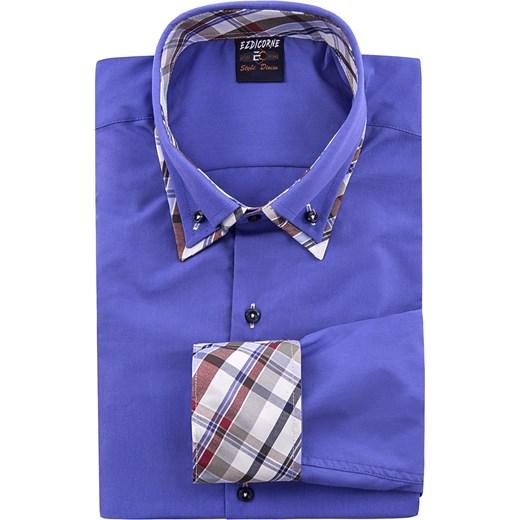 42c10cabfc833 ... Koszula męska długi rękaw 613 - indigo Risardi M ...