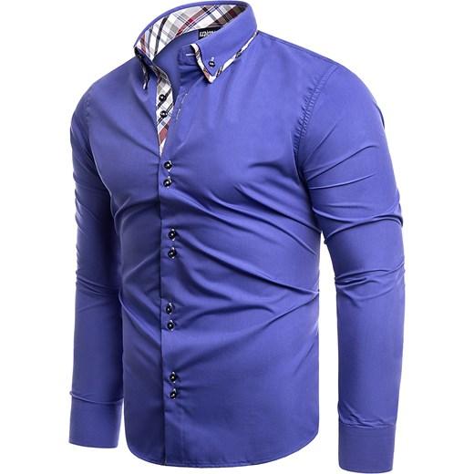 294a57288eaab ... Koszula męska długi rękaw 613 - indigo Risardi XXL ...