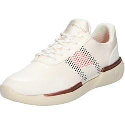 7b74cfa232991 Buty sportowe damskie Tommy Hilfiger sneakersy młodzieżowe sznurowane  płaskie bez wzorów