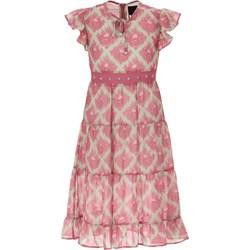 3adfc018 Sukienka dziewczęca różowa Richmond w abstrakcyjne wzory