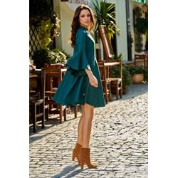 af1449d21bb9 Sukienka zielona Lemoniade elegancka na wesele bez wzorów midi