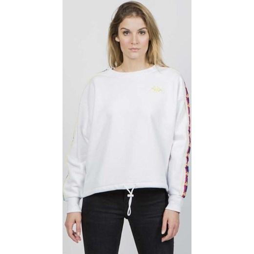 najlepsza obsługa wyprzedaż niesamowite ceny Bluza damska Kappa biała młodzieżowa krótka