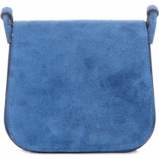 161a1b9d2383c Torebki Listonoszki Skórzane Firmy Genuine Leather Niebieska (kolory)  PaniTorbalska