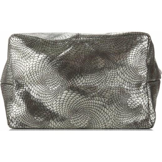 dd30ad26e09915 Shopper bag Vittoria Gotti duża lakierowana z frędzlami do ręki ...