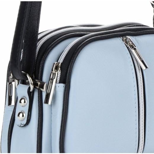 f0a7343347508 Małe Torebki Skórzane Listonoszki firmy Genuine Leather Błękitne (kolory)  PaniTorbalska w Domodi