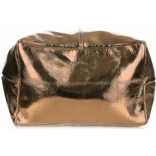 f06d620d3685d Oryginalne Torebki Skórzane ShopperBag Genuine Leather Błysk Szampan  (kolory) PaniTorbalska w Domodi
